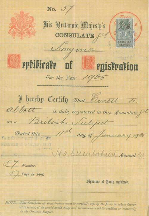 Abbott British citizenship documents