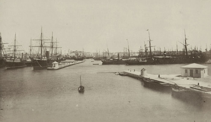 Alexandria Port in the 1880s