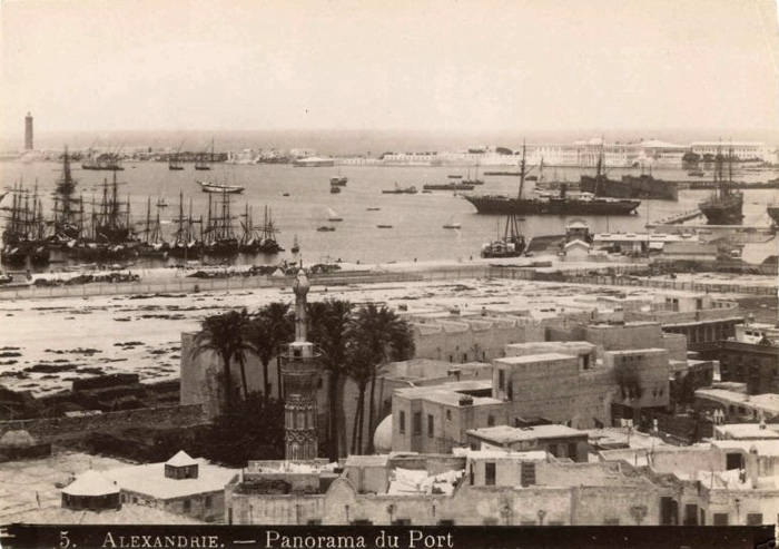 Alexandria harbour c. 1870-1880s photographed by L.Fiorillo