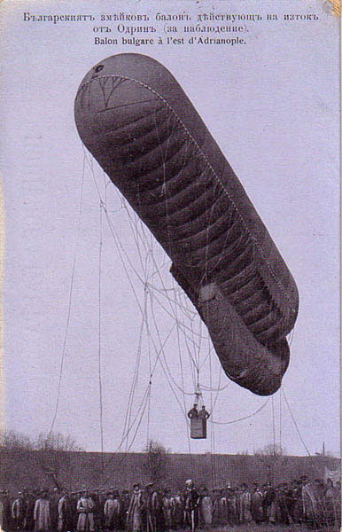 Bulgarian occupation period, a military observation balloon