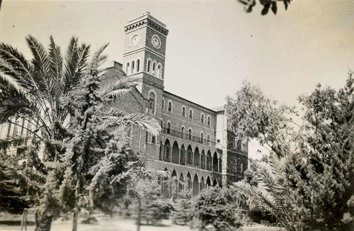 The American College of Beirut photographed in 1940s