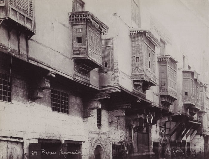 Cairo windows photographed by Pascal Sebah 1880s