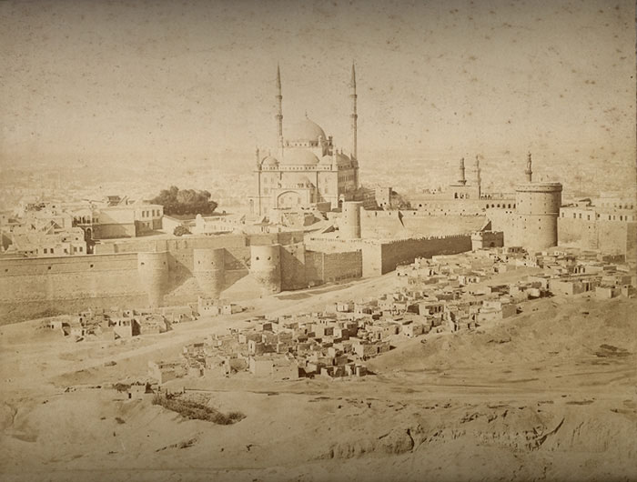 The citadel in the 1880s as shot by the photographer, the resident Greek C. & G. Zangaki brothers