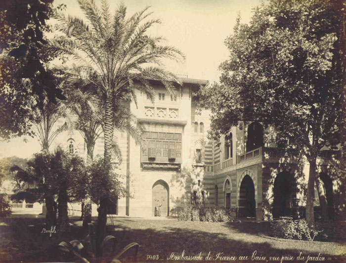 French Embassy of Cairo, photographed by Bonfils 1890s