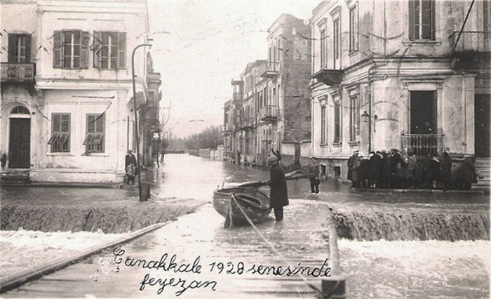 View of floods in Chanak, 1928