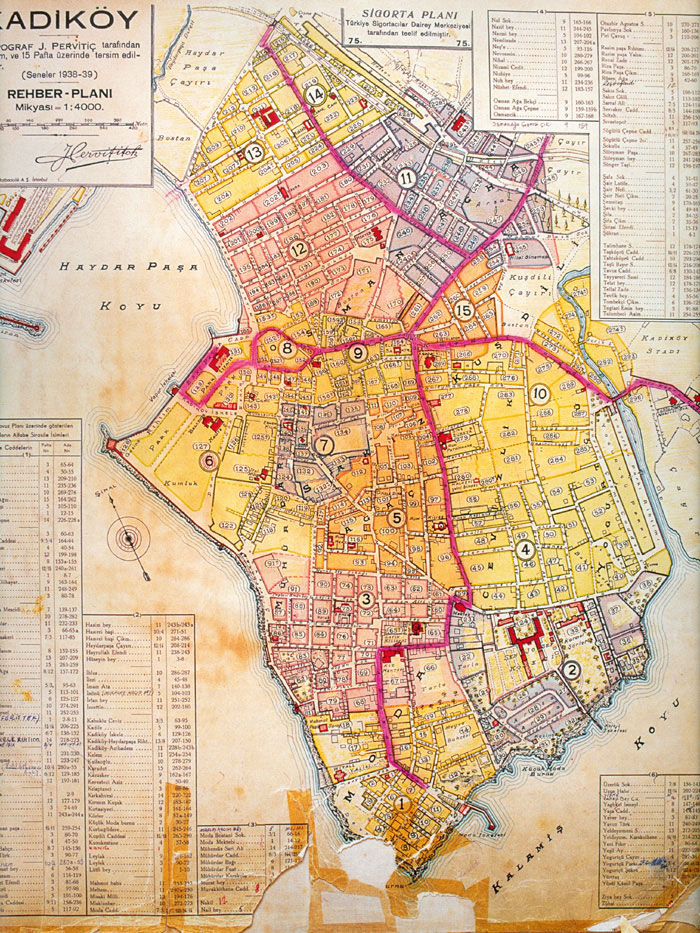 Archive Maps Of The Moda District Of Kadık 246 Y