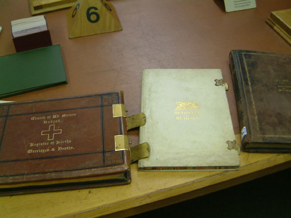 The archive books at the Guildhall library