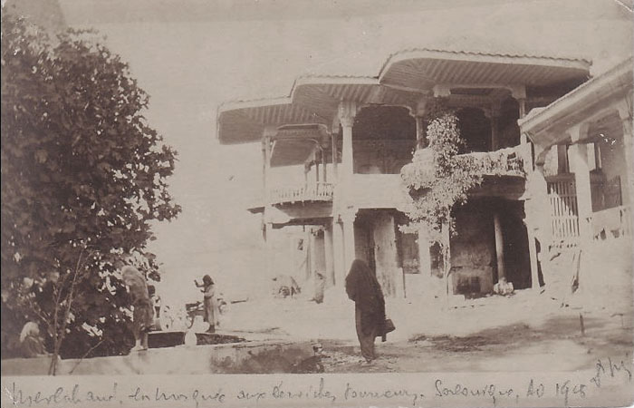 1905, Salonica Turkish quarter - the lodge of the whirling dervishes of the Mevlevi Shia sect