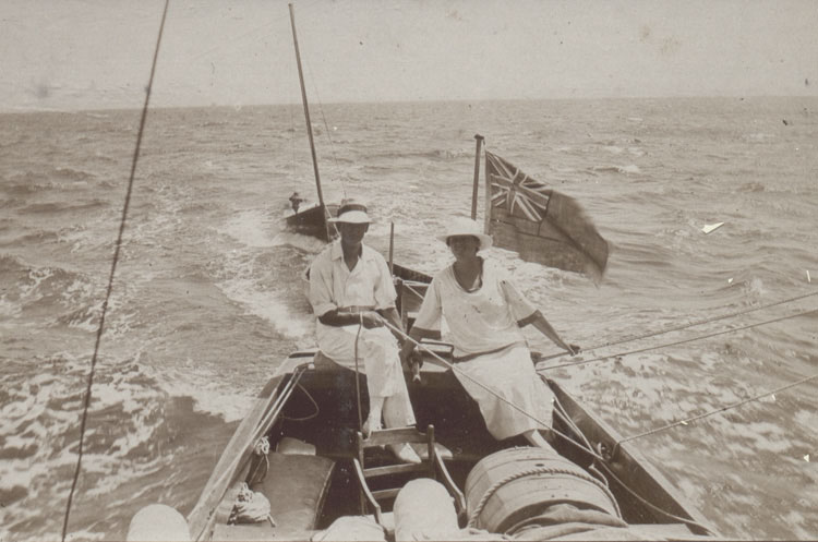 Bernard and Jennie Tubini at sea