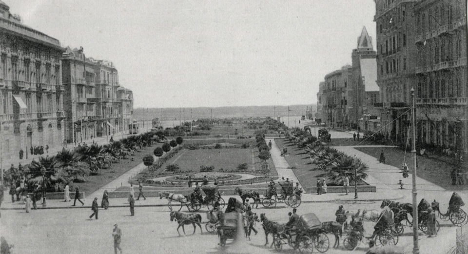 The French Garden, Alexandria, Egypt, late 19th century when the city had a truely European feel and had a substantial European origin population living there.