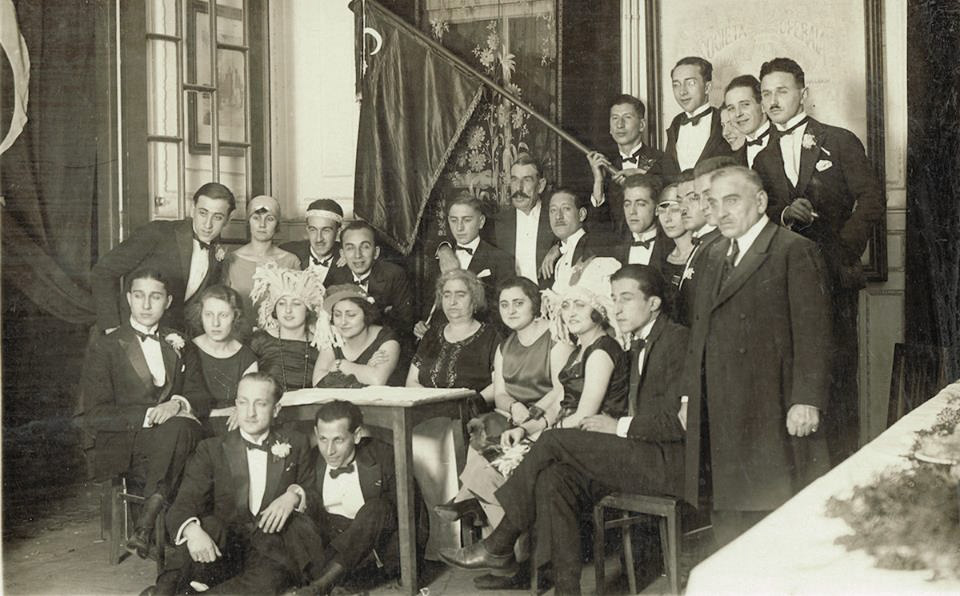 Members of the Italian Workers' Mutual Aid Society in Constantinople (Società Operaia Italiana di Mutuo Soccorso in Costantinopoli) seen in the 1930s when the community was still strong and held frequent social events as seen here in their building of Casa Garibaldi in Pera that has been recently restored.