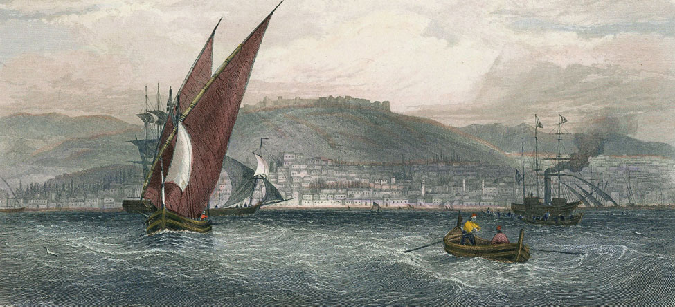 View of Smyrna harbour by an unknown artist.